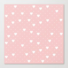 Pin Point Hearts Blush Canvas Print