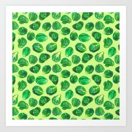 Brussel sprouts pattern for veggie lovers Art Print