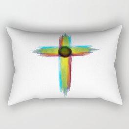 Cross Watercolor Design Rectangular Pillow