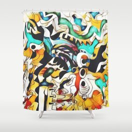 fauvist at 3 Shower Curtain