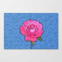 Pink Rose Cartoon Canvas Print