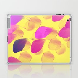 Pink Leaves on a Summery Yellow Laptop & iPad Skin