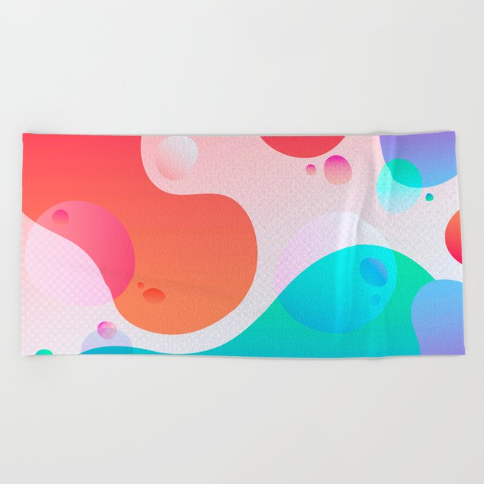 Abstract Waves Beach Towel