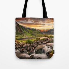 Tryfan and Llyn Ogwen Snowdonia Tote Bag