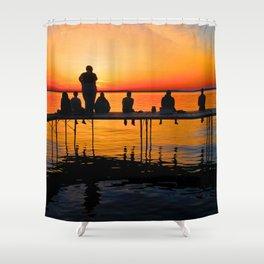 Sconnie Sunset Shower Curtain