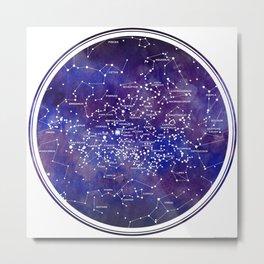 Star Map IV Metal Print