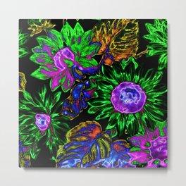 Amazing neon floral 02 Metal Print