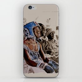 BRONX BOXING BOYS - sepia/blue version iPhone Skin