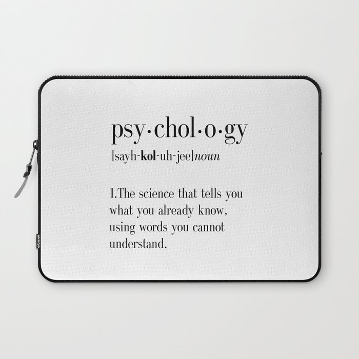 Psychology, Psychology gifts, Psychology definition, funny definition, funny quotes, dictionary art Laptop Sleeve