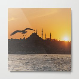 The Blue Mosque, Istanbul, Turkey Metal Print