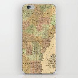Vintage Map of Arkansas (1839) iPhone Skin