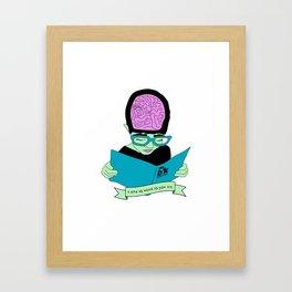 A zine as weird as you are. Framed Art Print