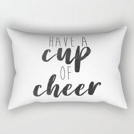 Cup of Cheer Holiday Minimalism Rectangular Pillow