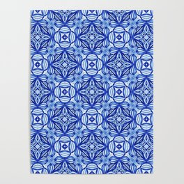For the Love of Blue - Pattern 372 Poster