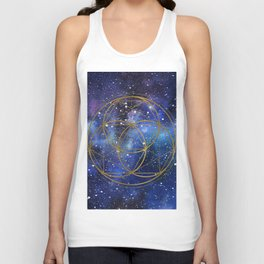 Space mandala Unisex Tank Top