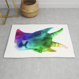 Rainbow Goat Rug