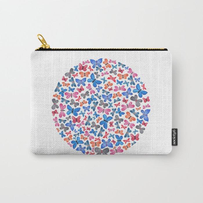 Watercolour Butterflies.  Carry-All Pouch