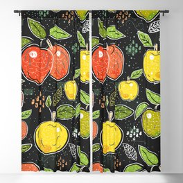 Seamless Pattern with Hand Drawn Cute Apples. Scandinavian Style Blackout Curtain