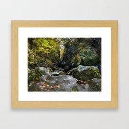 Ffos Noddun or Fairy Glen Framed Art Print