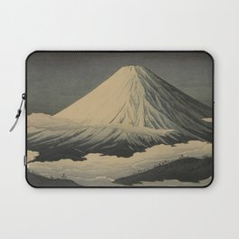 Shotei Takahashi Four Seasons of Mount Fuji Near Omuro Kawase Hasui Japanese Woodblock Print Laptop Sleeve