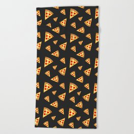 Cool and fun pizza slices pattern Beach Towel