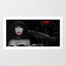 Vampire at Midnight Art Print