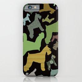 schnauzer pattern *black* iPhone Case