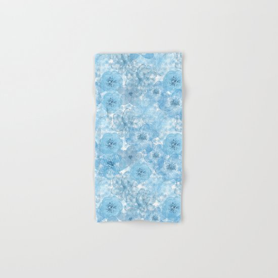 Turquoise flower lace pattern Hand & Bath Towel