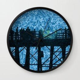 Pier Fishing Wall Clock