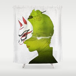 Fox Mask _side face Shower Curtain