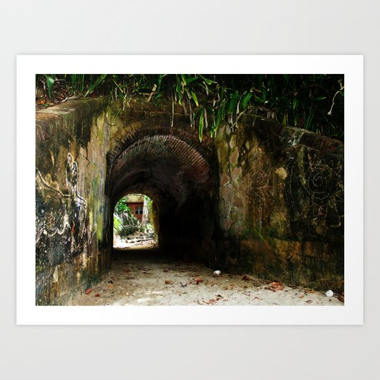 Old tunnel 2 Art Print