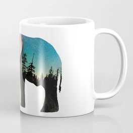 Elephant Double Exposure Coffee Mug