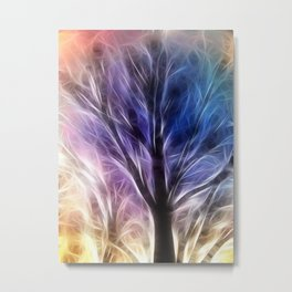 Fractal Rays of a Happy Tree Metal Print