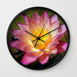Lovely Pink Water Lily Wall Clock