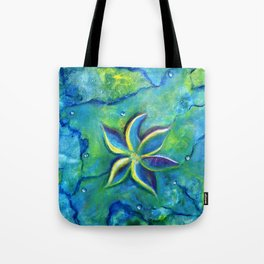 The Fallen One- Story Of A Flower Colorful Abstract Painting Tote Bag