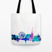 vienna Tote Bags featuring Vienna by Talula Christian