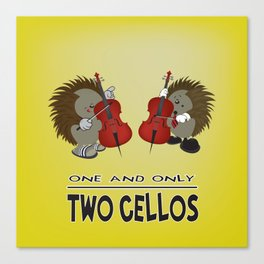 two cellos Canvas Print