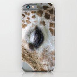 Eye of giraffe iPhone Case