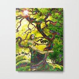 """Beneath the Bodhi Tree 2.0"" - Deep Dream Metal Print"