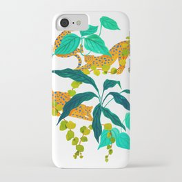 Leopards Playing among Plants iPhone Case