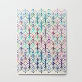 Mermaid's Braids - a colored pencil pattern Metal Print