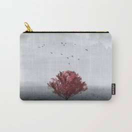 red tree in a field Carry-All Pouch