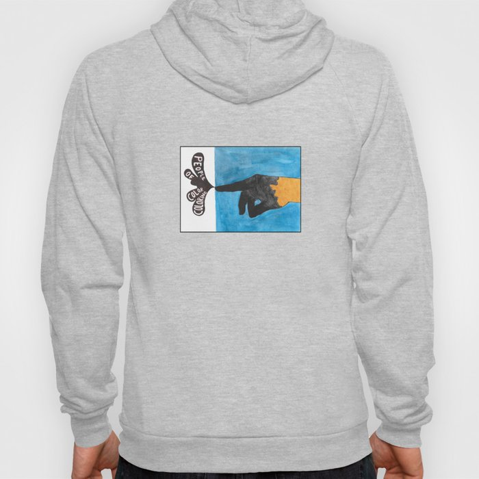 people of color coloring Hoody