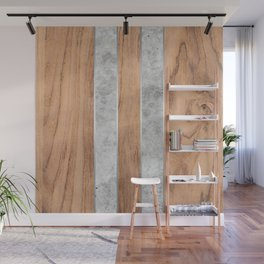Striped Wood Grain Design - Concrete #347 Wall Mural
