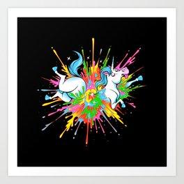 Unicorn Blast Art Print
