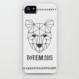 Totem Festival 2015 - Black & White iPhone Case