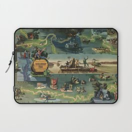 The adventures of Huckleberry Finn from the book by Mark Twain Laptop Sleeve