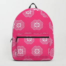 Pink elephant print Hmong Backpack