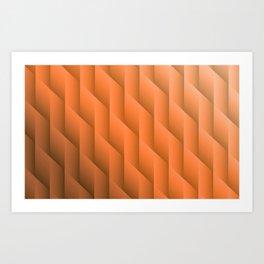 Gradient Orange Diamonds Geometric Shapes Art Print