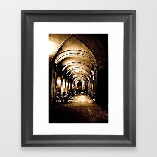 Outside Hallway Framed Art Print
